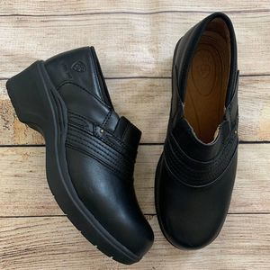 Ariat Work Safety Steel Toe Black Leather Clogs
